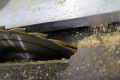 Uma serra e uma serragem da circular Imagem de Stock