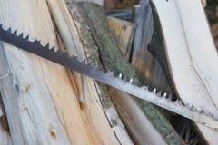 Uma serra oxidada velha Foto de Stock
