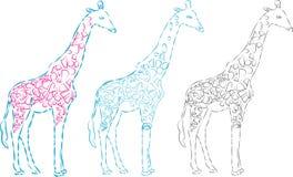 Uma silhueta do girafa do vetor, ilustração animal abstrata Pode ser usado para o fundo, cartão, materiais da cópia - vectorielle ilustração do vetor