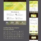 Uma site da página para a empresa Imagens de Stock