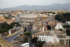 Uma skyline de Roma Fotografia de Stock Royalty Free