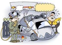 Uma soldadura uniu o erro do carro Fotografia de Stock Royalty Free