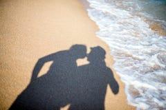 Uma sombra dos amantes Fotografia de Stock Royalty Free