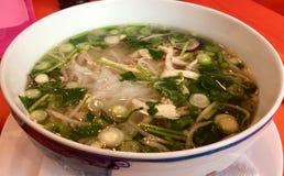 Uma sopa que aqueça seu corpo completo Fotografia de Stock