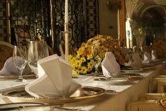 Uma tabela de jantar Imagens de Stock
