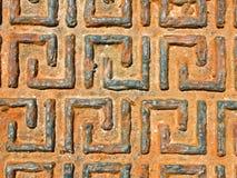 Uma tampa grega de oxidação do dreno Imagens de Stock