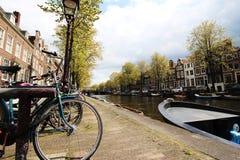 Uma tarde calma em Amsterdão imagem de stock