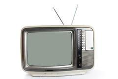 Uma televisão isolada Fotos de Stock