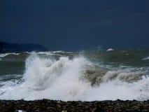 Uma tempestade no mar Imagem de Stock