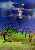 Uma tempestade violenta Foto de Stock Royalty Free