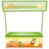 Uma tenda para bebidas de refrescamento ilustração royalty free