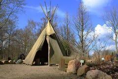 Uma tenda usada por idians nos tempos velhos fotos de stock royalty free