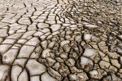 Uma terra seca fotografia de stock