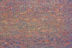 Uma textura da parede de tijolo Alvenaria europeia Grande parede de tijolo vermelho imagem de stock royalty free