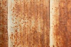 Uma textura oxidada do metal do ferro ondulado. Fotografia de Stock Royalty Free
