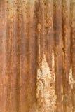 Uma textura oxidada do metal do ferro ondulado. Fotos de Stock Royalty Free