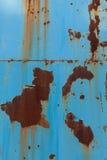 Uma textura oxidada do metal do ferro ondulado imagem de stock