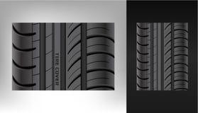 Uma textura realística do pneu duplicata Um traço da roda borracha ilustração royalty free