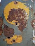 Uma textura velha do grunge no metal oxidado imagens de stock