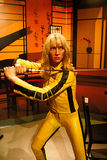 Uma Thurman as the Bride from Kill Bill in Madame Tussauds Hollywood Royalty Free Stock Photos
