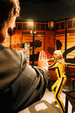 Uma Thurman as the Bride from Kill Bill in Madame Tussauds Hollywood Royalty Free Stock Photography