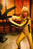 Uma Thurman as the Bride from Kill Bill in Madame Tussauds Hollywood Stock Image