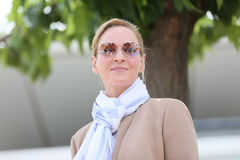 Uma Thurman attends the Jury un Certain Regard photocall. During the 70th annual Cannes Film Festival at Palais des Festivals on May 18, 2017 in Cannes, France Stock Photo