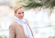 Uma Thurman attends the Jury un Certain Regard photocall. During the 70th annual Cannes Film Festival at Palais des Festivals on May 18, 2017 in Cannes, France Royalty Free Stock Photo