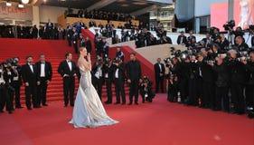 Uma Thurman. CANNES, FRANCE - MAY 26, 2013: Uma Thurman at the closing awards gala of the 66th Festival de Cannes Stock Image