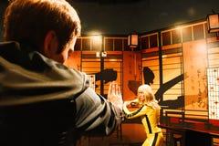Uma Thurman jako panna młoda od zwłoki Bill w Madame Tussauds Hollywood Zdjęcia Stock
