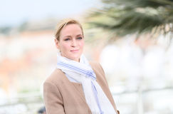 Uma Thurman woont de Juryv.n. bij Bepaalde Achting photocall stock fotografie