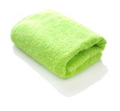 Uma toalha verde Fotos de Stock Royalty Free