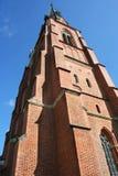 Uma torre alta da igreja Fotografia de Stock