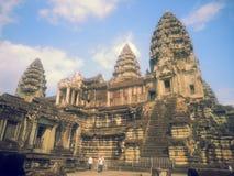 Uma torre de Angkor Wat Foto de Stock
