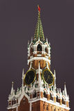 Uma torre de Spassky de Kremlin, Moscovo, Rússia imagens de stock