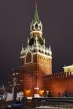 Uma torre de Spassky de Kremlin, Moscovo, Rússia Fotos de Stock Royalty Free