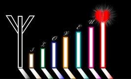 Uma torre do amor ou do dia do Valentim Ilustração Royalty Free