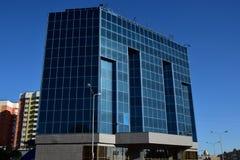 Uma torre moderna do negócio em Astana fotos de stock