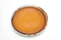 Uma torta de abóbora caseiro fresca fotografia de stock royalty free