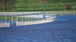 Uma trilha da pista de corridas subaquática Fotografia de Stock Royalty Free