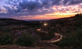 Uma trilha de estrada de ferro bonita imagem de stock royalty free