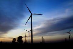 Uma turbina eólica Imagens de Stock