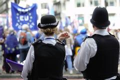 Uma UE azul embandeira em Westminster Londres durante um anti-Brexit protesto Fotos de Stock