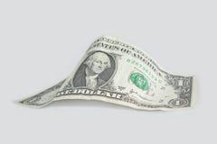 Uma uma nota de dólar americana Fotografia de Stock