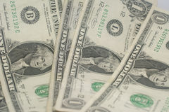 Uma uma nota de dólar americana Fotos de Stock