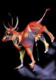 Uma vaca vermelha, imagem abstrata Imagens de Stock Royalty Free