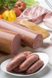 Uma variedade de carnes imagem de stock