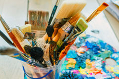 Uma variedade de cores corajosas brilhantes para a inspiração Imagem de Stock Royalty Free
