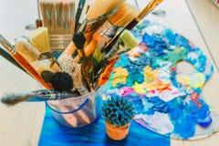 Uma variedade de cores corajosas brilhantes para a inspiração Imagens de Stock