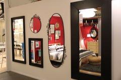 Uma variedade de espelhos Fotografia de Stock